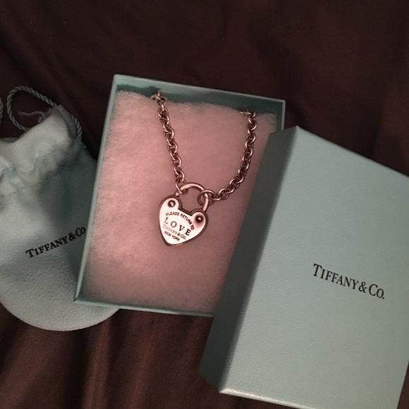 f8788b7925 Tiffany & Co. Jewelry | Return To Tiffany Heart Lock Necklace | Poshmark